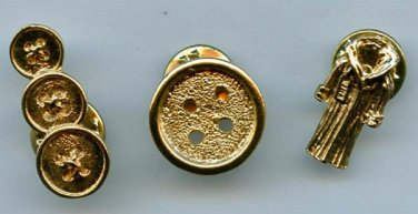 Buttons and coat scatter pins new vintage brass pins