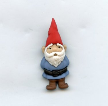 Gnome button realistic modern snap-together blue color plastic button