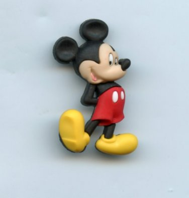 Mickey Mouse button realistic modern snap-together plastic no shank involvement