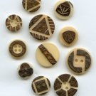 Modern Vegetable Ivory buttons from Ecuador