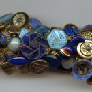 Handmade vintage bracelet with antique buttons