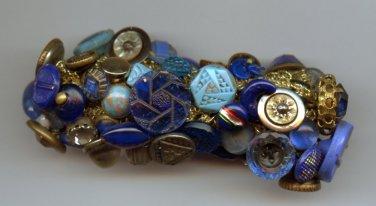 Handmade vintage bracelet with antique buttons
