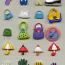 Shoes Purses Umbrellas Hands Lips buttons