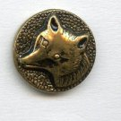 Wolf and Fox brass buttons