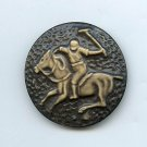 Polo Player on horse button buffed celluloid 30's large button