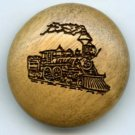 Idaho state button show favor button 1988 wood TRAIN button