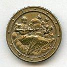 Women Playing a Mandolin button antique brass button