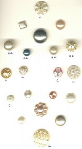 Pearlized buttons glass and unknown to me materials vintage buttons