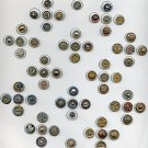 70 small Steel cup buttons dated late 19th century