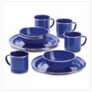 12 PC Camping Set-Blue (38384)