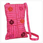 Embroidered Ruby Red Purse (35540)