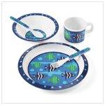 Boy's Blue Fish Dinnerware Set (36685)