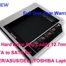 2nd Hard Drive Bay Caddy 12.7mm SATA to SATA for ACER/ASUS/DELL/TOSHIBA Laptops