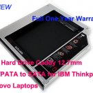 2nd Hard Drive Caddy 12.7mm IDE/PATA to SATA for IBM Thinkpad Lenovo Laptops