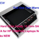 2nd Hard Drive Caddy 12.7mm SATA to SATA for HP COMPAQ Laptops Notebooks NEW