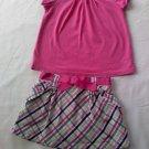 Cute Plaid Skirt and matching shirt (24 months)