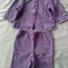 Very Cute Girls 2-Piece Lavender Outfit (0-3 months)