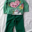 The Childrens Place Girls2-Piece Outfit with Cute Heart on Shirt (3T)