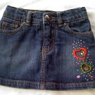 The Childrens Place Girls Jean Skirt with Heart Detailing (24 months)