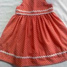 Gymboree Girls Orange and White Polka Dotted Dress (18-24 months)