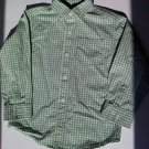 Gymboree Boys White and Green Button Up Long Sleeve Shirt