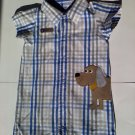 Carters Boys Snap Button Up Jumper with Cute Puppy on Side
