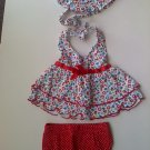 Adorable Girls 3-Piece Fruity Outfit (3-6 months)