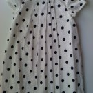 Carters Girls Off White Dress with Black Polka Dots (24 months)