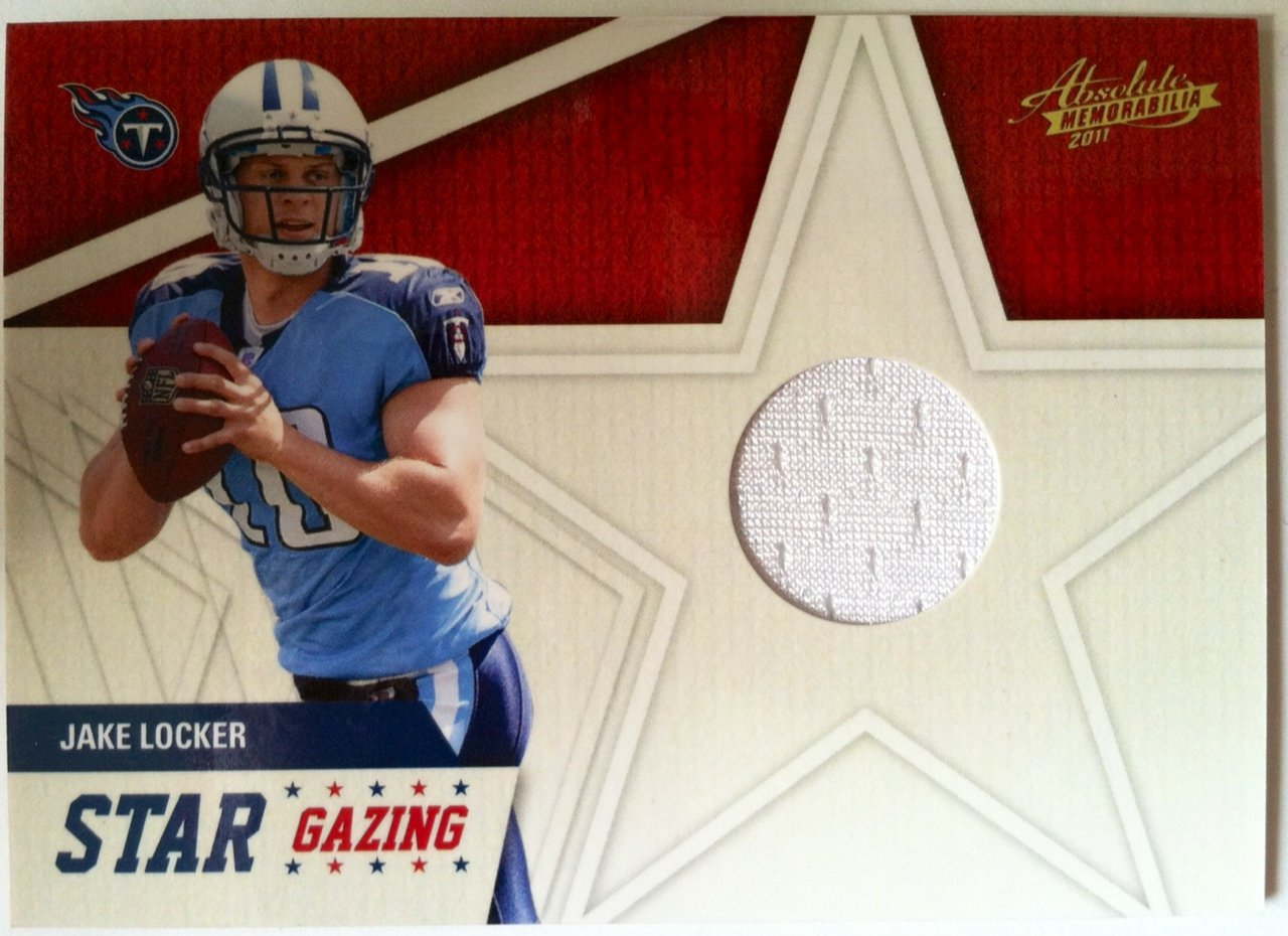 Jake Locker 2011 Panini Memorabilia Star Gazing Rookie Jersey Card