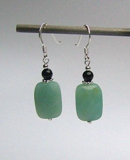 Onyx & Amazonite Earrings
