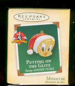Hallmark 2004 Miniature Tweety Putting on the Glitz