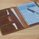A5 Leather Folio Cover,Diary Notebook Case,Personalized Handmade Folder Pad Pen