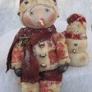 Primitive Snowman Doll & His Little Snowman Friend E-Pattern