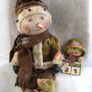 Primitive Snowman Doll Count Down To Christmas E-Pattern
