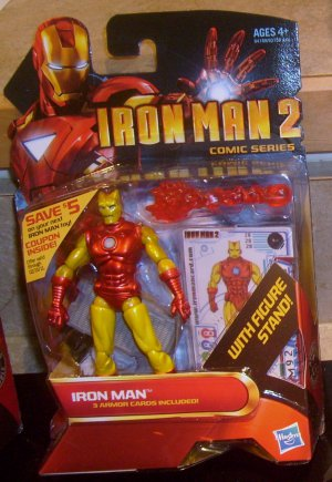 Marvel Universe 2010 IM 2 HORNHEAD ARMOR IRON MAN FIGURE 28 Hasbro 3 3/4 Inch Red & Yellow