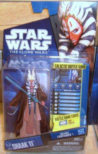 Star Wars TCW 2010 JEDI MASTER SHAAK TI FIGURE CW31 Animated Series Clone