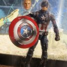 Marvel Legends 2016 BATTLE-DAMAGED CAPTAIN AMERICA FIGURE Loose 6 Inch Civil War