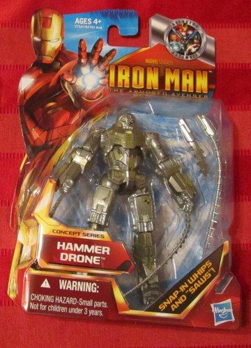 Marvel Universe 2010 IM 2 HAMMER DRONE FIGURE 44 Iron Man Avengers