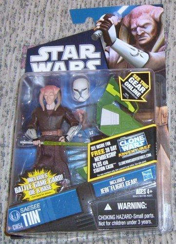 Star Wars TCW 2011 JEDI MASTER SAESEE TIIN FIGURE CW54 Clone Animated Series