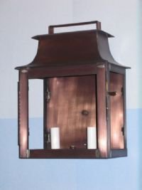 reproduction pagoda style wall light