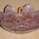 LOVELY AMYTHEST POTTERY DETAILED LEAF CANDY DISH