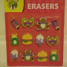 BRAND NEW TEACHING TREE 12 PACK FUN SHAPES ERASERS SET