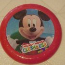 NEW DISNEY MICKEY MOUSE RED PLASTIC FRISBEE FLYING DISC