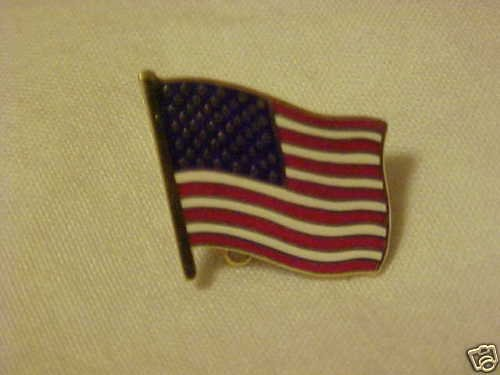 UNITED STATES OF AMERICA USA FLAG TACK HAT PIN BROOCH