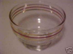 VINTAGE DEPRESSION ERA  RED GOLD BANDED GLASS SHERBET