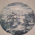 JOHNSON BROS BLUE WHITE DINNER  PLATE ENCHANTED GARDEN