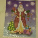 BRAND NEW LARGE COLORFUL SANTA CLAUS WINDOW CLING