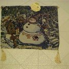 BRAND NEW CHRISTMAS SNOWMAN TASSELED WALL TAPESTRY