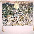 BRAND NEW CHRISTMAS DEER IN SNOW TAPESTRY WALL HANGING