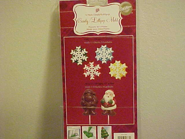 NEW WILTON SANTA CLAUS SNOWFLAKES CANDY MOLD MOLDS